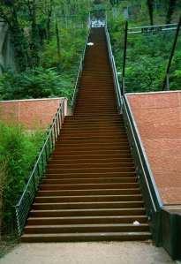 If we can see the staircase all the way to the top, we find the climb all the more tiring.