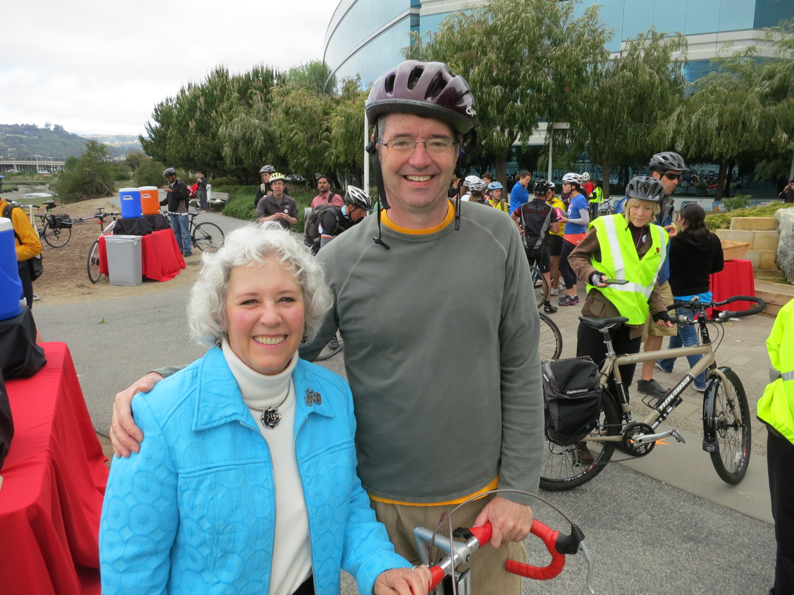 Dave Pine and Diane Howard - Bike To Work Day 2013