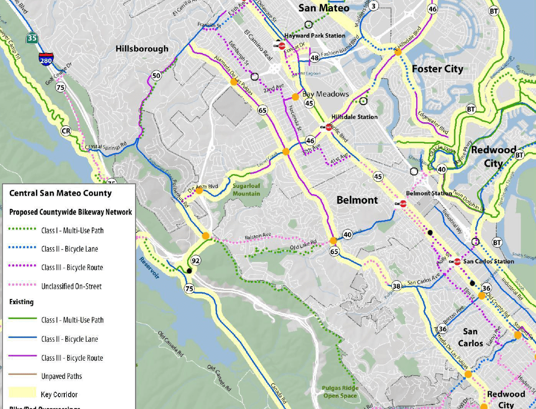 San Mateo County Supes Vote to Fund Bike/Ped Coordinator ... on key system route map, caltrain route map, greyhound route map, septa route map, bus route map, vta route map, valley metro route map, dart route map, metro transit route map, omnitrans route map, thebus route map, amtrak route map, foothill transit route map, golden gate transit route map, ac transit route map, anaheim resort transit route map, san francisco route map, mtc route map, glendale beeline route map, smart route map,