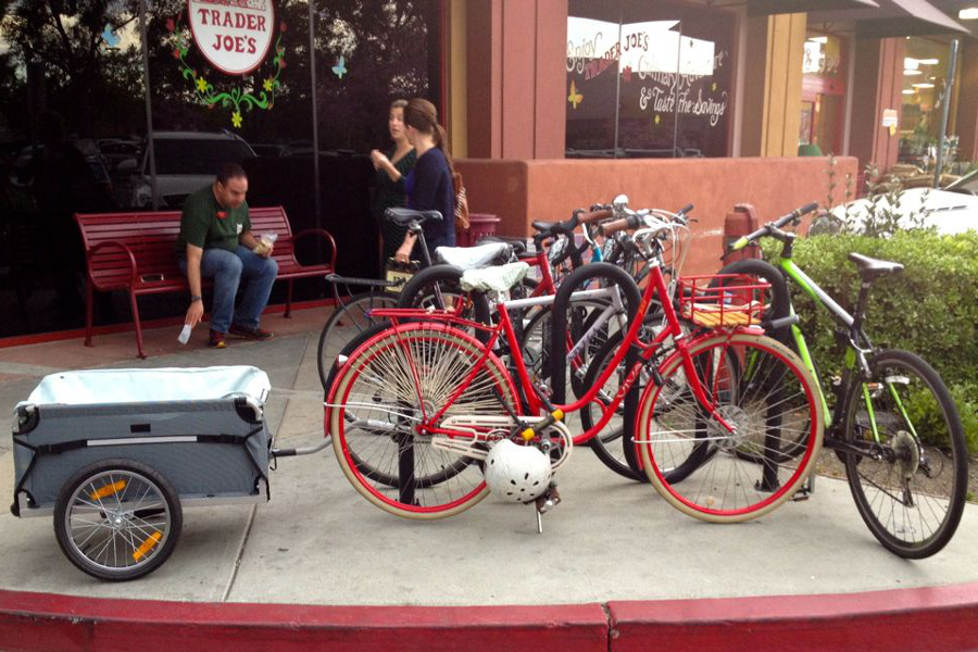 Bike Trailer at Trader Joes