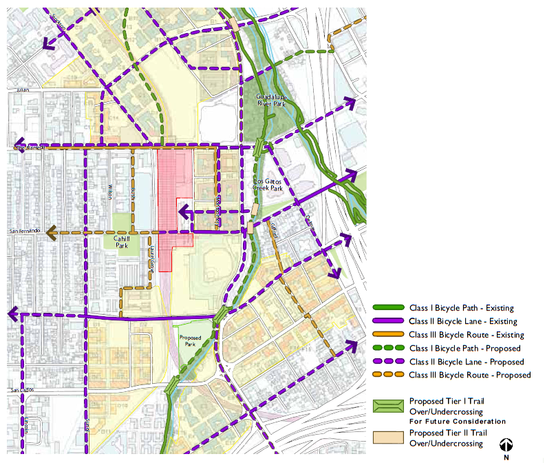 San Jose Diridon Area Plan Could Add Parking Lose Trail Pass - San jose bike trails map