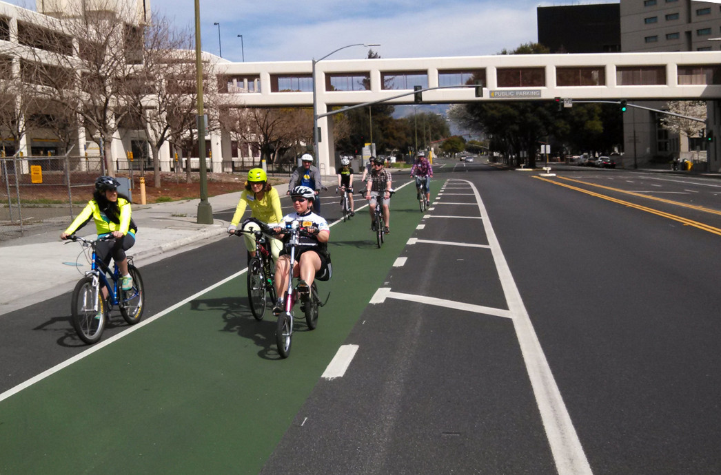 Hedding Street San Jose Buffered Bike Lanes