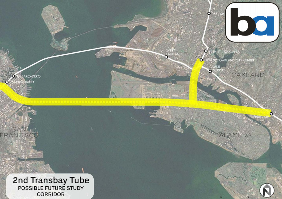 A possible alignment for the second Transbay