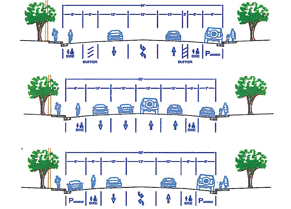 Proposed Farm Hill Blvd Cross Sections