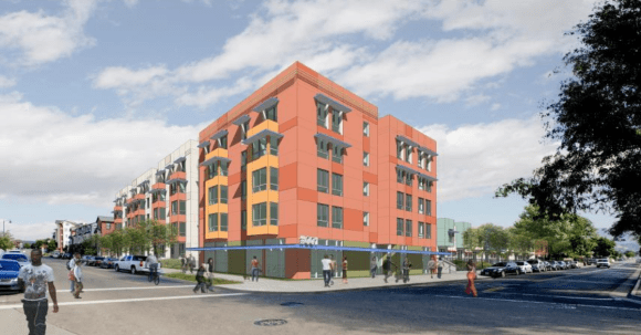Are townhouses the right density for  station area development in Oakland? Image: BART.