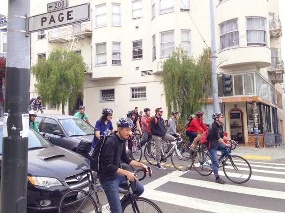 SFMTA wants to avoid the confusion that develops at the intersection of Page and Octavia. Photo: SFMTA.