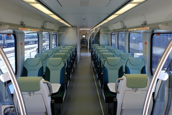 Interior of the new Diesel Multiple Unit sets. Photo: SMART rail