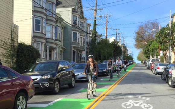 The quality of transportation infrastructure was used in the survey of the best world cities. Photo: San Francisco Bicycle Coalition.