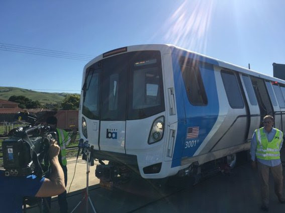 New BART car arriving in California. Image: BART.