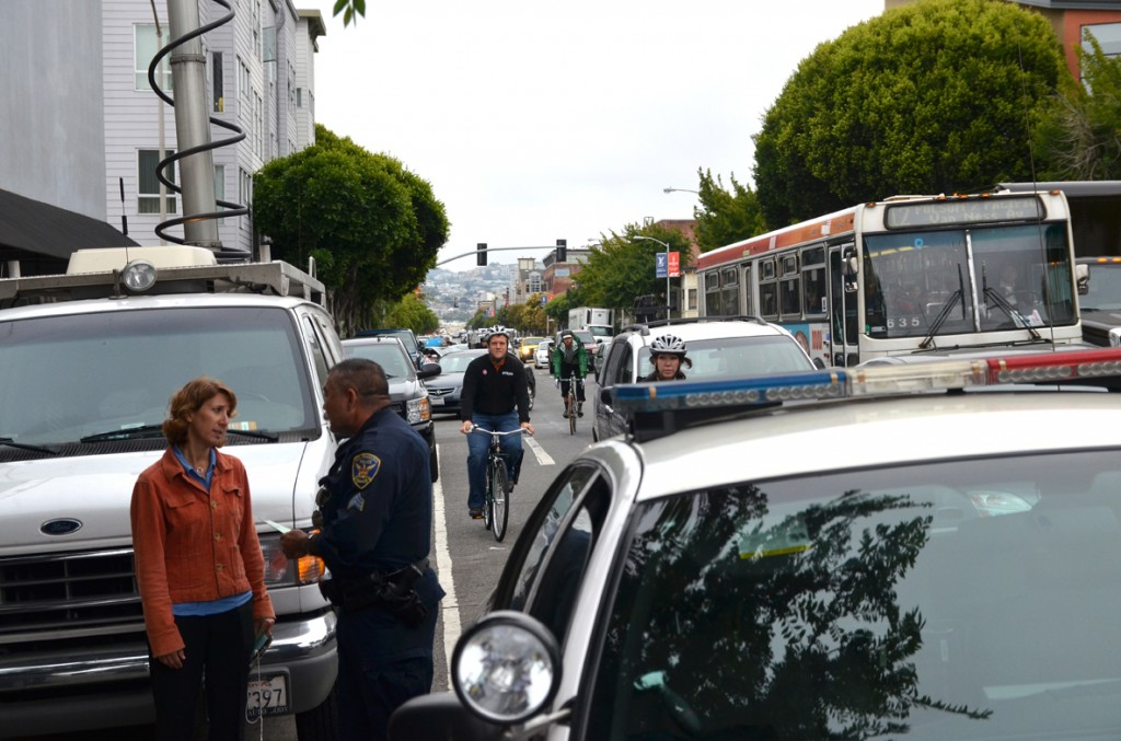 Sgt. Ernst denied pleas for him to move his vehicle. Photo: SFBC