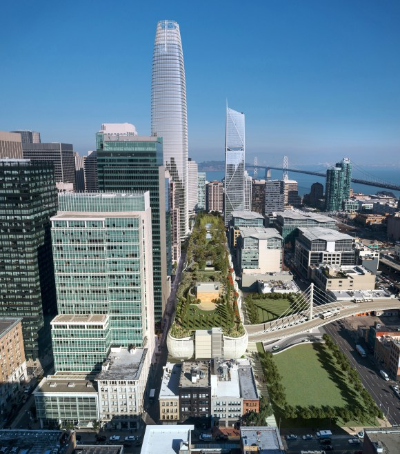 Under current plans, it seems unclear when trains will reach Transbay. Image: by steelblue for Pelli Clarke Pelli.