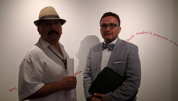 Roberto Hernandez and Supervisor David Campos at the Mission meeting. Photo: Streetsblog.