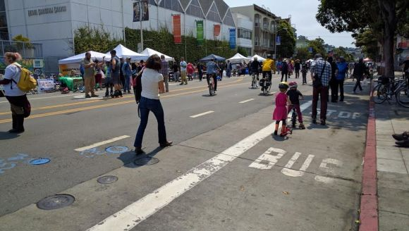 Sunday Streets in the Mission. Photo: Streetsblog.