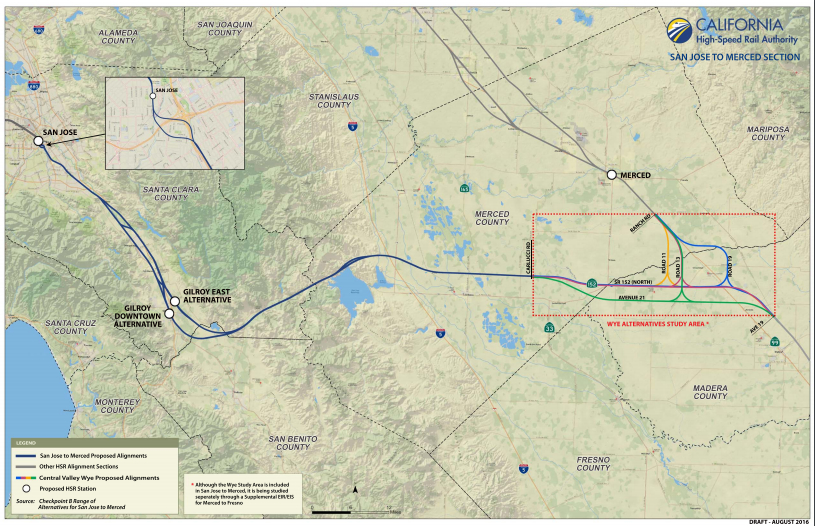 Pacheco California Map.Spur Talk High Speed Rail On Its Way To Northern California