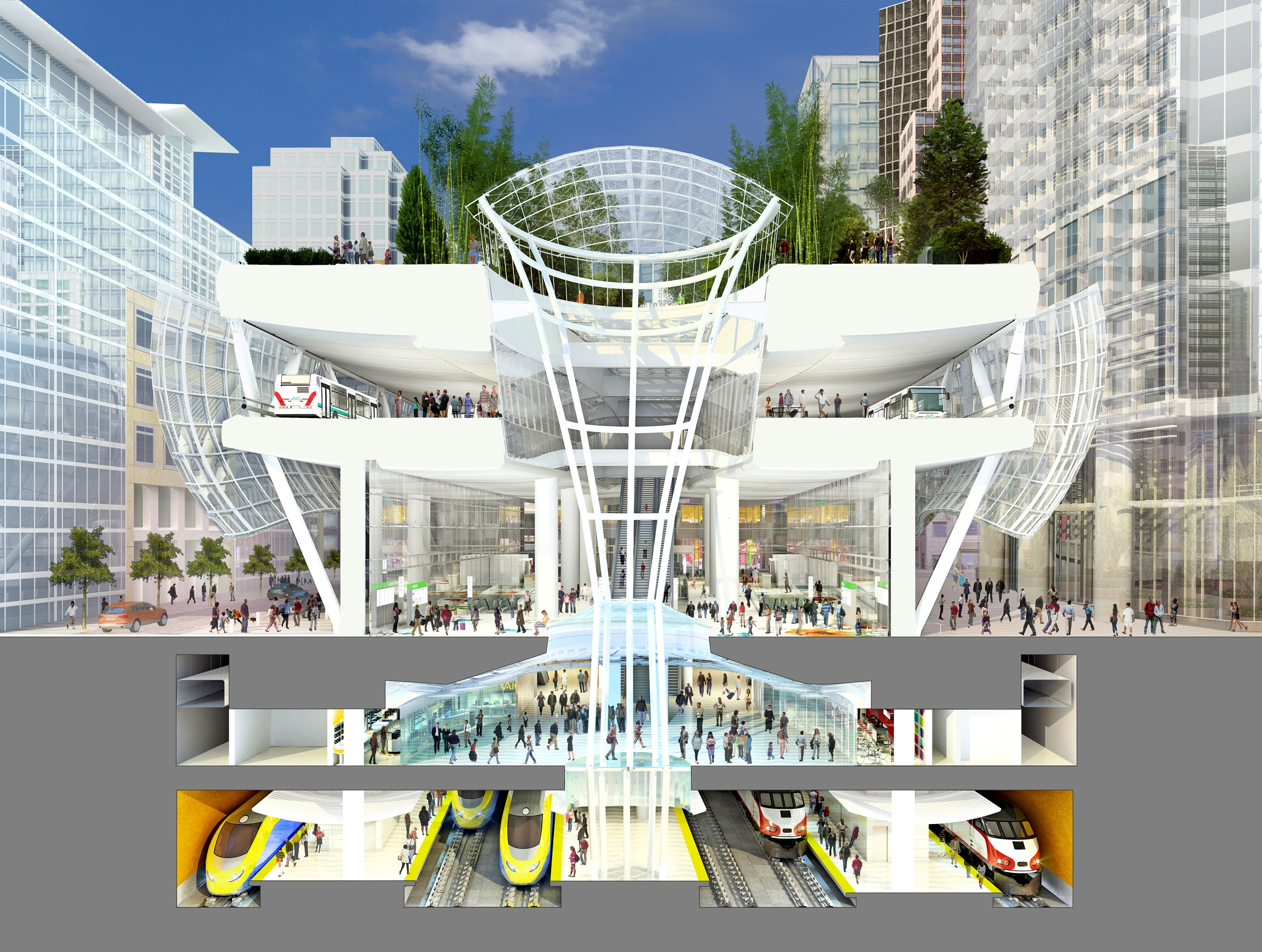 Rendering of the Transbay Transit Center. Image: Transbay Construction Authority