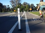 Those safe-hit posts were installed by the guerrilla safety group, SFMTrA -not SFMTA. Photo: SFMTra.