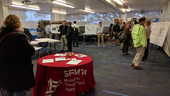 Some 20 people came to give suggestions and discuss possible improvements for the Geneva-San Jose area. Photo: Streetsblog