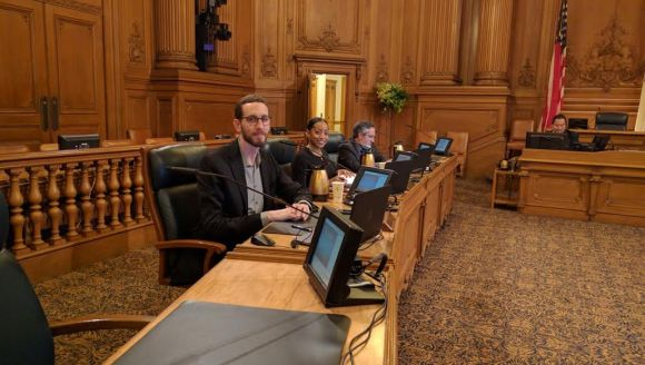 Supervisors Wiener, Cohen and Peskin listened to presentations on the subway plan. Photo: Streetsblog