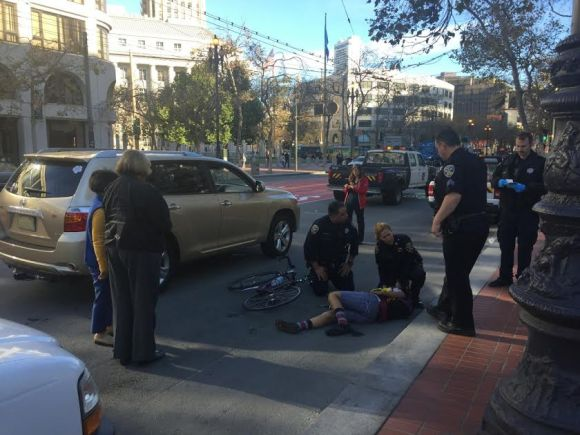 Another crash on Market Street. Photo: John Rogers