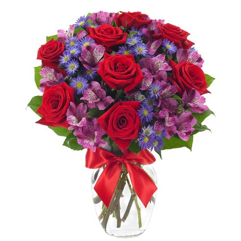 All My Rosy Love Bouquet At Send Flowers
