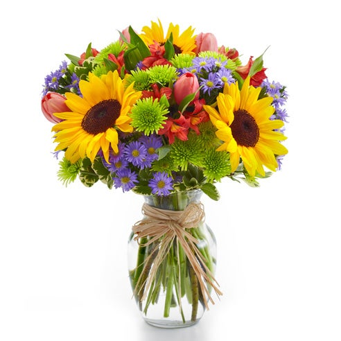 Sunflower garden and sunflower bouquet for same day flower delivery