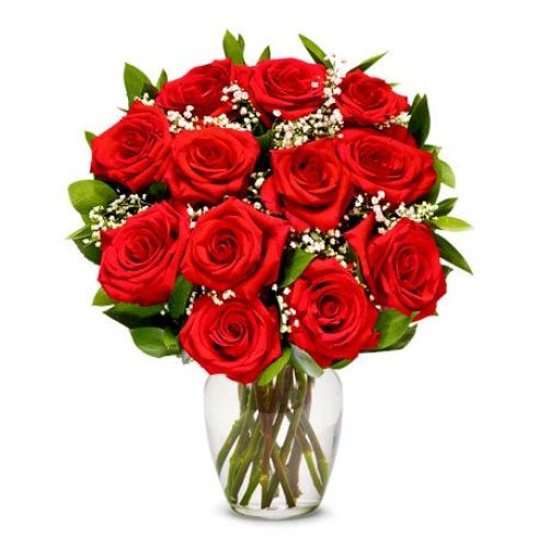 Red roses in this rose delivery for fathers day from send flowers