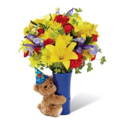 Last minute gift delivery on Valentine's Day bear bouquet delivery
