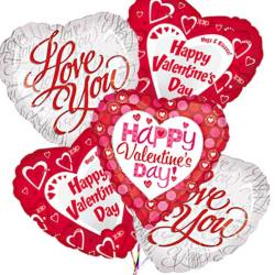Last minute gift delivery on Valentine's Day, happy valentines day balloons