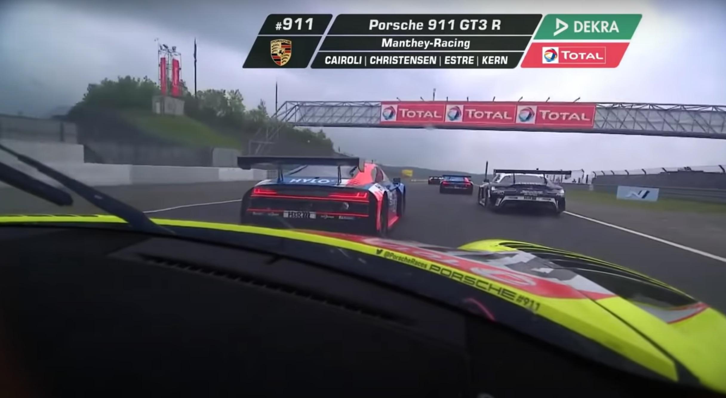 quelle remontée de Kevin Estre aux 24h du Nürburgring !