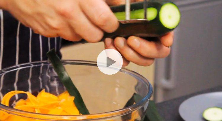 tagliatelles de carottes recette