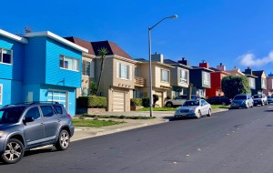 San Franciscan houses in Californian colors