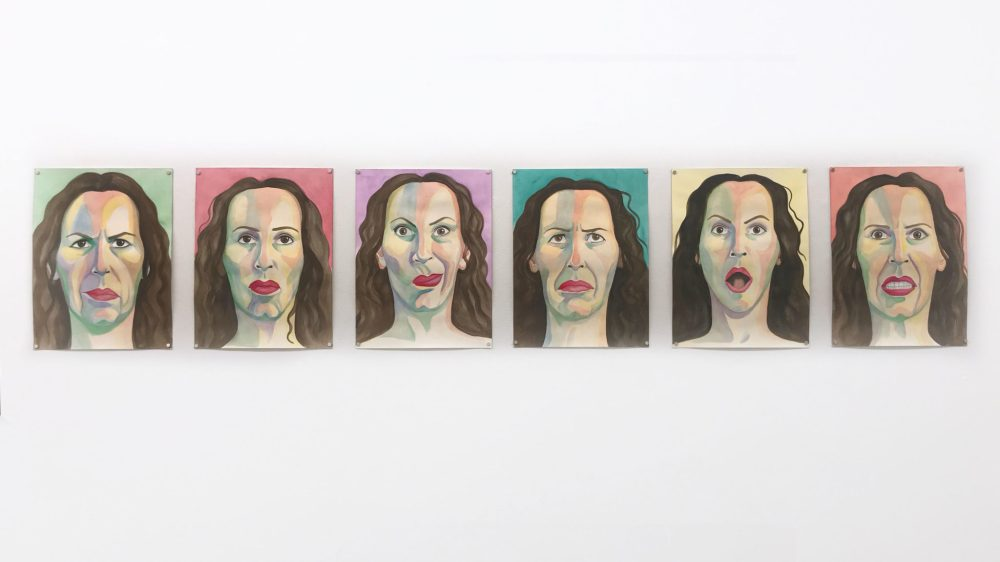 Patricia Fabricant portraits, installation view at SFA Projects