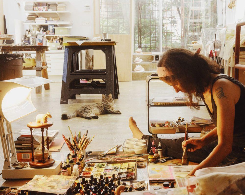 Nina Meledandri in her studio (photograph by Apiwich Bangrapimolpong)