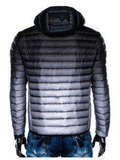 črno siva moška bunda