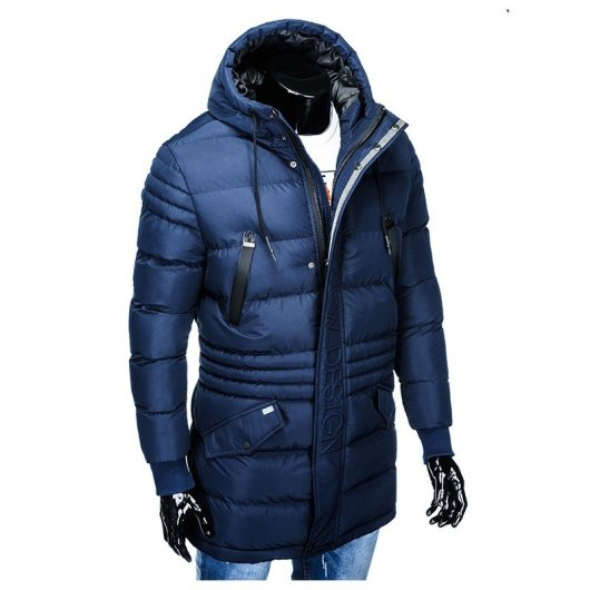 temno modra moška bunda
