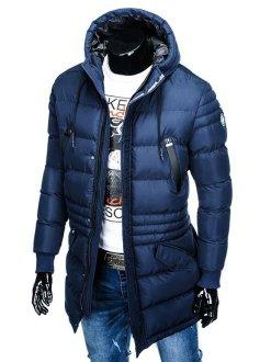 modra moška bunda