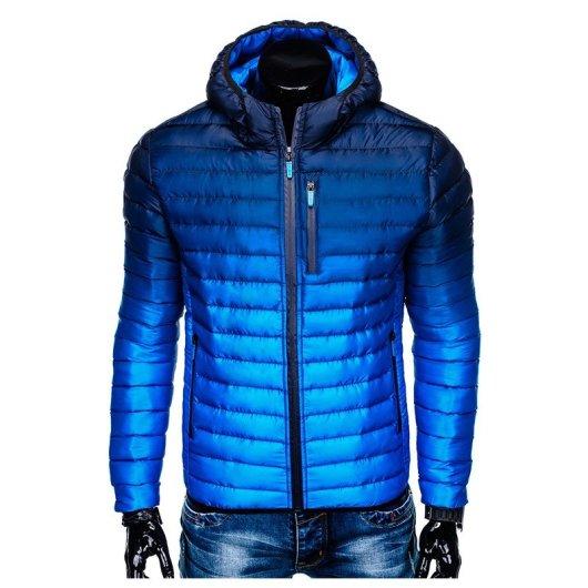 modra moška zimska bunda