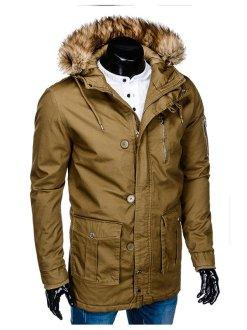 rjava moška bunda
