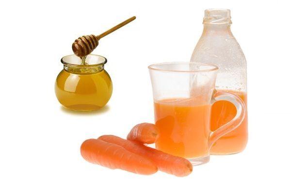 Suc de morcov cu miere. Cel mai bun leac in tratarea ranilor