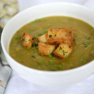 Supa de mazare boabe. Reteta vegetariana