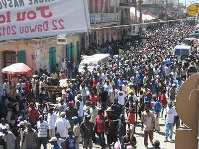 Haitians march against Martelly regime 092112