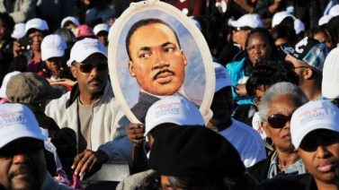 Martin Luther King Jr. Memorial dedication National Mall DC 101611