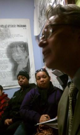 Terrilyn Woodfin, Queenandi, Ross Mirkarimi at POOR Community Newsroom
