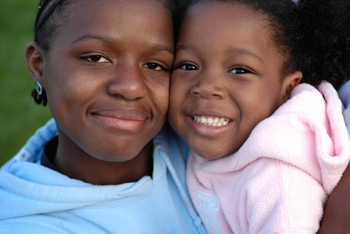 Girl in foster care with her child