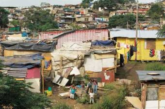 South African shantytown