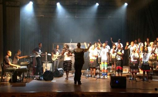 Zululand Gospel Choir performing live