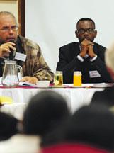 David van Wyk, Jean Losango at coal mining conference