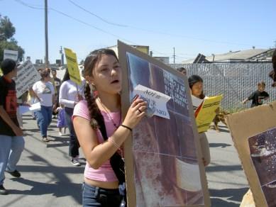 East Palo Alto YUCA students protesting ROMIC
