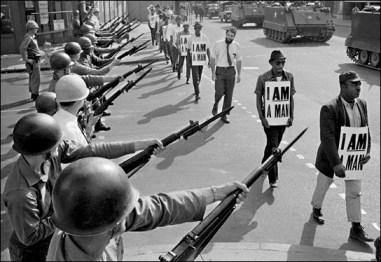 I am a man, guns, tanks Memphis 1968 by Bettmann-CORBIS