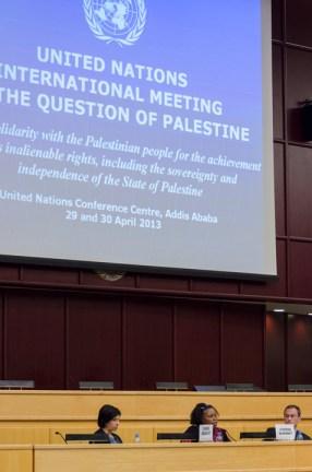 UN Meeting on Palestine, Cynthia McKinney on panel 042913 by Yosuke Kobayashi, web